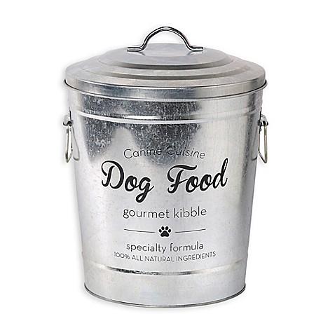Galvanized Steel Pet Food Storage Bin With Lid