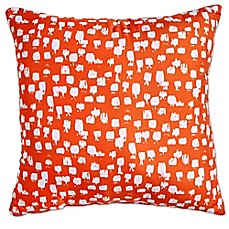 Scribble Paint Brush Square Throw Pillow