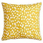 Scribble Paint Brush Square Throw Pillow in Yellow