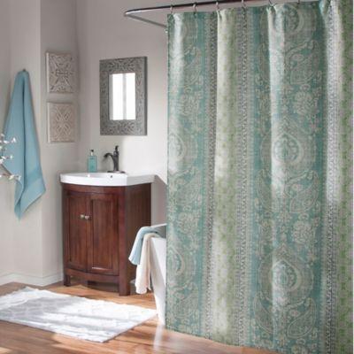 M.style Callie Shower Curtain In Aqua