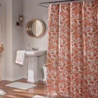m.style Valencia Shower Curtain in Cinnabar