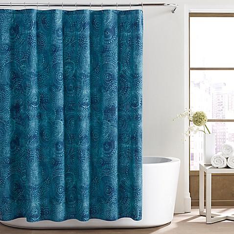 city loft alana shower curtain in aqua
