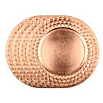 Gibson Overseas Diamond Rim Charger Plates in Copper (Set of 4)