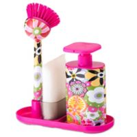 Sink Side Set Soap Dispenser with Scrubby in Citric