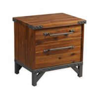 INK+IVY Lancaster 2-Drawer Nightstand in Amber