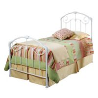 Hillsdale Maddie Twin Bed without Rails in White