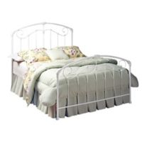 Hillsdale Maddie Queen Bed without Rails in White