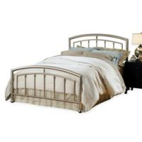 Hillsdale Claudia King Bed Set with Rails in Nickel