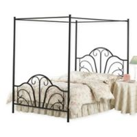 Hillsdale Dover King Canopy Bed Set with Frame in Black
