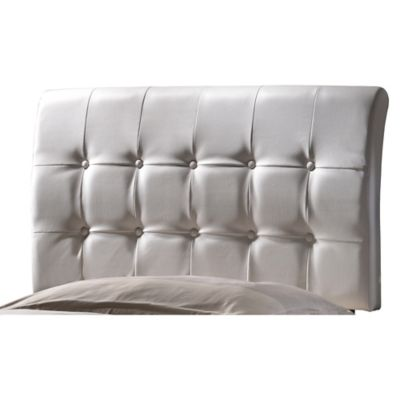 Hilale Lusso Upholstered Twin Headboard In White
