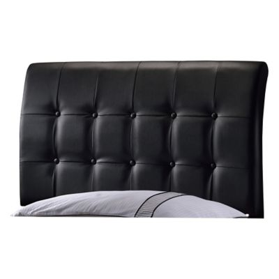 buy black upholstered headboard from bed bath  beyond, Headboard designs