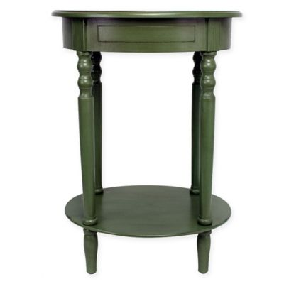 Décor Therapy Simplify Oval Accent Table In Antique Green