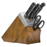 Chef's Edge 10-Piece Self-Sharpening Knife Block Set in Black