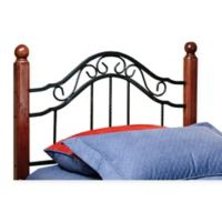 Hillsdale Madison Metal Twin Headboard in Black