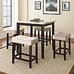 Steve Silver Co. Aberdeen 5-Piece Counter Height Dining Set in Dark Cherry with Ivory Top