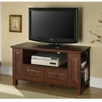 Walker Edison Columbus 44-Inch TV Console in Brown