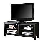 "Forest Gate 58"" Wood Media TV Stand Console in Black"