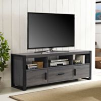 Walker Edison City Grove TV Console in Charcoal