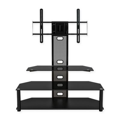 zline designs aviton flat panel tv stand with integrated mount