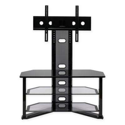 zline designs madrid tv stand with integrated mount in black