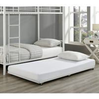 Walker Edison Twin Trundle Bed Frame in White