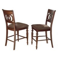 Steve Silver Co. Dolly Counter Chairs in Medium Cherry (Set of 2)