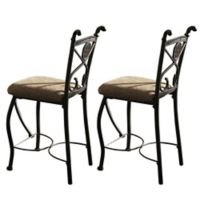 Steve Silver Co. Brookfield Counter Stool with Gunmetal Finish (Set of 2)