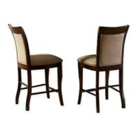 Steve Silver Co. Marseille Counter Chair with Merlot Cherry Finish (Set of 2)