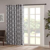 Madison Park Saratoga 84-Inch Grommet Top Patio Door Window Curtain Panel in Grey