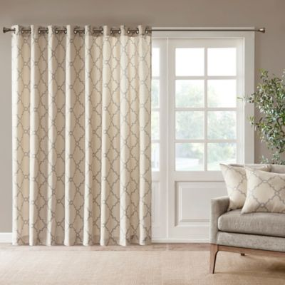 100 inch curtains. Madison Park Saratoga 84-Inch Grommet Top Patio Door Window Curtain Panel In Beige 100 Inch Curtains Bed Bath \u0026 Beyond