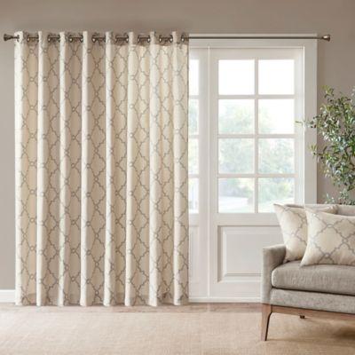 Madison Park Saratoga 84 Inch Grommet Top Patio Door Window Curtain Panel In Beige
