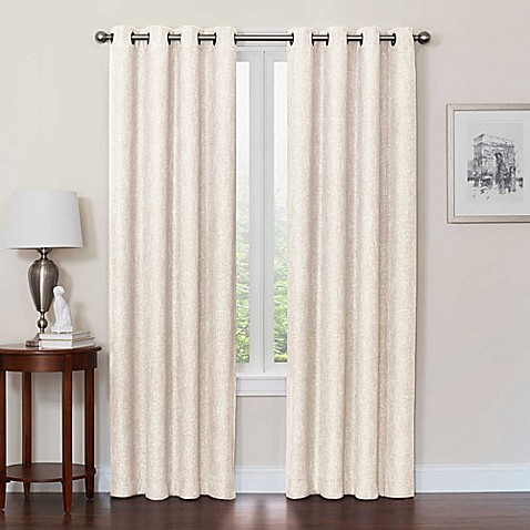 Quinn grommet top 100 blackout window curtain panel bed bath beyond for Bed bath and beyond curtains for living room