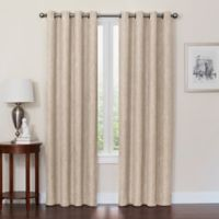 Quinn 120-Inch Grommet Top 100% Blackout Window Curtain Panel in Linen
