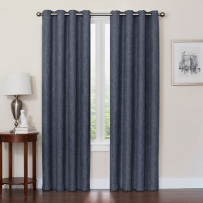 solid nicetown season draperies blackout blue thermal curtains top insulated dp curtain navy all com grommet amazon