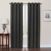 Quinn 54-Inch Grommet Top 100% Blackout Window Curtain Panel in Black/Charcoal