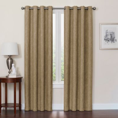 quinn 95inch grommet top window curtain panel in mocha