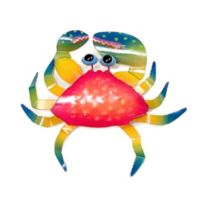 Crab Metal Wall Décor in Red/Blue
