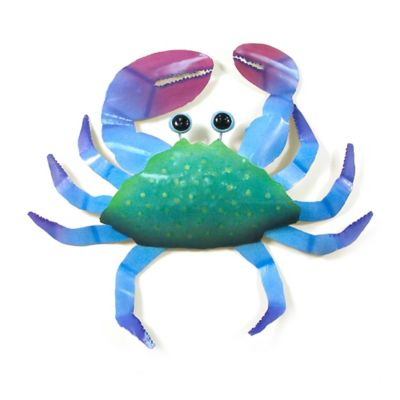 Crab Metal Wall Décor In Green Blue