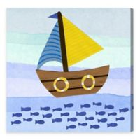 Olivia's Easel Boat 43-Inch x 43-Inch Canvas Wall Art