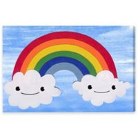 Rainbow Clouds 30-Inch x 20-Inch Canvas Wall Art