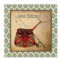 Gone Fishing All Weather Outdoor Canvas Wall Art