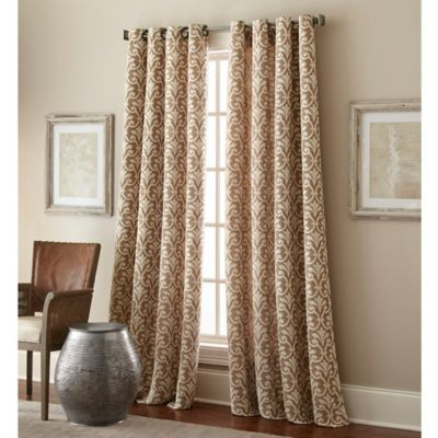Bradford 63 Inch Grommet Top Window Curtain Panel In Taupe