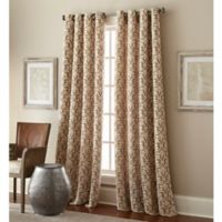 Bradford 108-Inch Grommet Top Window Curtain Panel in Taupe
