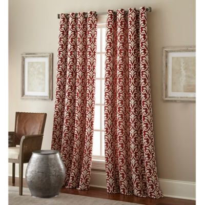 bradford 84inch grommet top window curtain panel in red