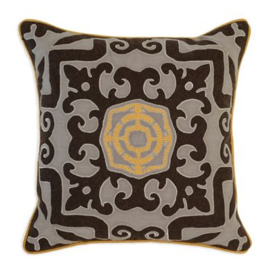 villa home malena 22inch square throw pillow in greybrown