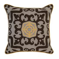 Villa Home Malena 22-Inch Square Throw Pillow in Grey/Brown