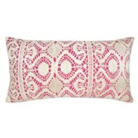Villa Home 14-Inxh x 26-Inch Oblong Throw Pillow in Pink/Ivory