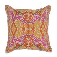 Villa Home Sunda 22-Inch Square Throw Pillow in Yellow/Pink/Orange