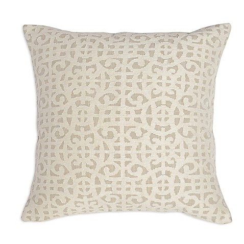 Villa Home Decorative Pillows : Villa Home Montego Square Throw Pillow in Ivory - Bed Bath & Beyond