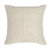 Villa Home Montego Square Throw Pillow in Ivory